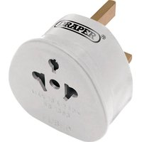 Draper All 2 Pin Euro & Worldwide Travel Plug Adaptor