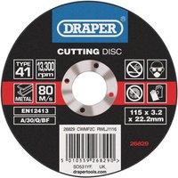 Draper Depressed Centre Stone Cutting Disc 125mm 3 2mm 22mm