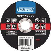 Draper Flat Metal Cutting Disc 125mm 3 2mm 22mm