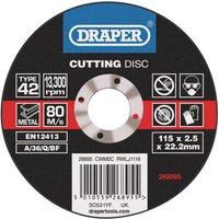 Draper Depressed Centre Metal Cutting Disc 115mm 2 5mm 22mm