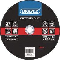 Draper Depressed Centre Metal Cutting Disc 230mm 1.8mm 22mm