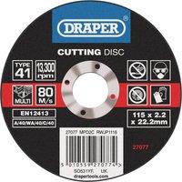 Draper Multi Purpose Cutting Disc 115mm 1 6mm 22mm