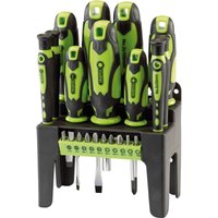 Draper 21 Piece Screwdriver Set Green