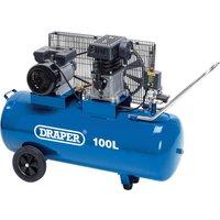 Draper DA100/330 Belt Driven Air Compressor 100 Litre 240v
