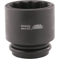 Draper Expert 3/4 Drive Bi Hexagon Hub Nut Impact Socket Metric 50mm