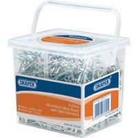 Draper Aluminium Pop Rivets 4mm 10mm Pack of 1200