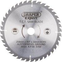 Draper Expert Circular Saw Blade 254mm 40T 30mm
