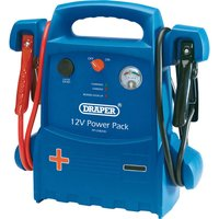 Draper Portable Emergency Jump Starter & Power Pack 12v