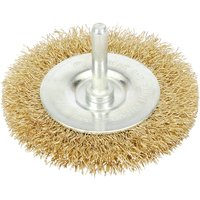 Draper Brassed Wire Wheel Brush 100mm 6mm Shank