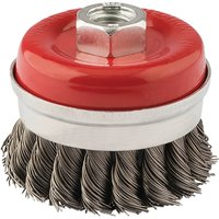 Draper Twist Knot Wire Cup Brush 60mm M14 Thread