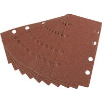 Draper Punched Hook and Loop Sanding Sheets 90mm x 187mm 60g Pack of 10