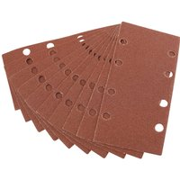 Draper 90 x 187mm Aluminium Oxide Sanding Sheets 90mm x 187mm 80g Pack of 10