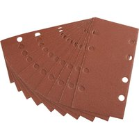 Draper Punched Hook and Loop Sanding Sheets 90mm x 187mm 120g Pack of 10