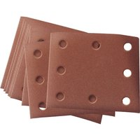 Draper 104 x 112mm Aluminium Oxide Sanding Sheets 104mm x 112mm Assorted Pack of 10