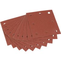 Draper Punched Hook & Loop Sanding Sheets 104mm x 112mm 100g Pack of 10