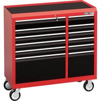 Draper Expert 12 Drawer Tool Roller Cabinet Black / Red