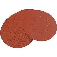 Draper Hook and Loop Sanding Discs 125mm 125mm 320g Pack of 10