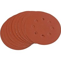 Draper Hook & Loop Sanding Discs 125mm 125mm 400g Pack of 10