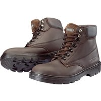Draper Mens Water Resistant Safety Boots Dark Brown Size 7