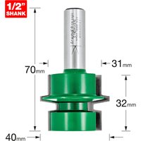 Trend CRAFTPRO Offset Tongue and Groove Router Cutter 40mm 32mm 1/2