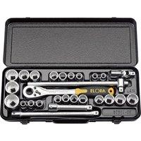 Elora 28 Piece 1/2 Drive Bi Hex Socket Set Metric & Imperial 1/2