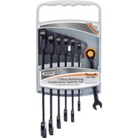 Draper 7 Piece Hi Torq Ratchet Combination Spanner Set Metric