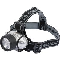 Draper 7 LED Head Torch 24 Lumens Black / Silver