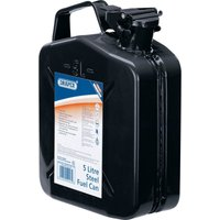 Draper Steel Jerry Can 5l Black