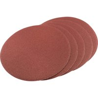 Draper Self Adhesive Aluminium Oxide Abrasive Disc 200mm 60g Pack of 5