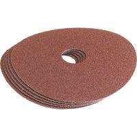 Draper 115mm Aluminium Oxide Sanding Discs 115mm 80g Pack of 5