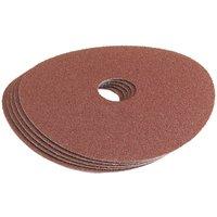 Draper 115mm Aluminium Oxide Sanding Discs 115mm 60g Pack of 5