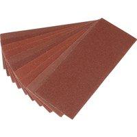 Draper 92mm X 232mm Aluminium Oxide Sanding Sheets 92mm x 232mm 60g Pack of 10