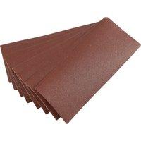 Draper 92mm X 232mm Aluminium Oxide Sanding Sheets 92mm x 232mm 100g Pack of 10