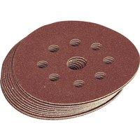 Draper Hook and Loop Sanding Discs 125mm 125mm Assorted Pack of 10