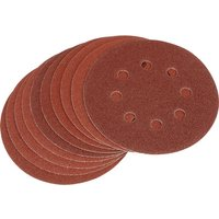 Draper Hook & Loop Sanding Discs 125mm 125mm 80g Pack of 10