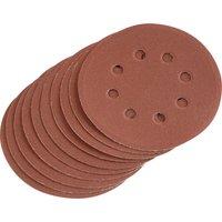 Draper Hook & Loop Sanding Discs 125mm 125mm 240g Pack of 10
