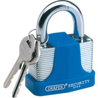 Draper Laminated Steel Padlock 40mm Standard