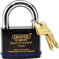 Draper Expert Heavy Duty Steel Padlock 70mm Standard