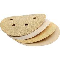 Draper 150mm Aluminium Oxide Sanding Discs 150mm Assorted Pack of 10