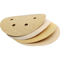 Draper 150mm Aluminium Oxide Sanding Discs 150mm Assorted Pack of 10