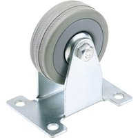 Draper Fixed Plate Fixing Rubber Wheeled Caster 50mm