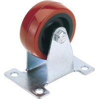Draper Fixed Plate Fixing Polyurethane Wheeled Caster 100mm