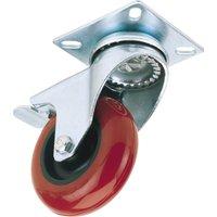 Draper Swivel Plate Fixing Polyurethane Wheeled Caster & Brake 100mm