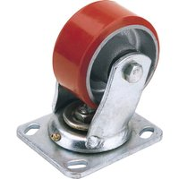 Draper Swivel Plate Fixing Heavy Duty Polyurethane Wheeled Caster 125mm