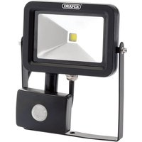 Draper COB LED Slimeline Wall Mounted Floodlight With PIR 10 Watts