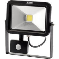 Draper COB LED Slimeline Wall Mounted Floodlight With PIR 20 Watts