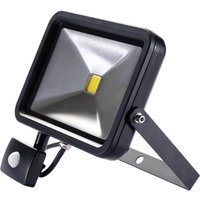 Draper COB LED Slimeline Wall Mounted Floodlight With PIR 30 Watts