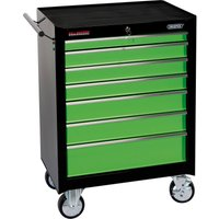 Draper 7 Drawer Roller Cabinet Green