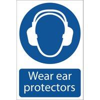 Draper Wear Ear Protectors Sign 200mm 300mm Standard