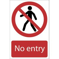 Draper No Entry Sign 200mm 300mm Standard
